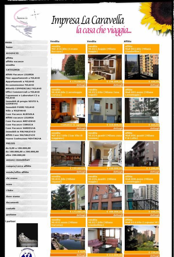 esempio di stile personalizzato per sito web per agenzia immobiliare