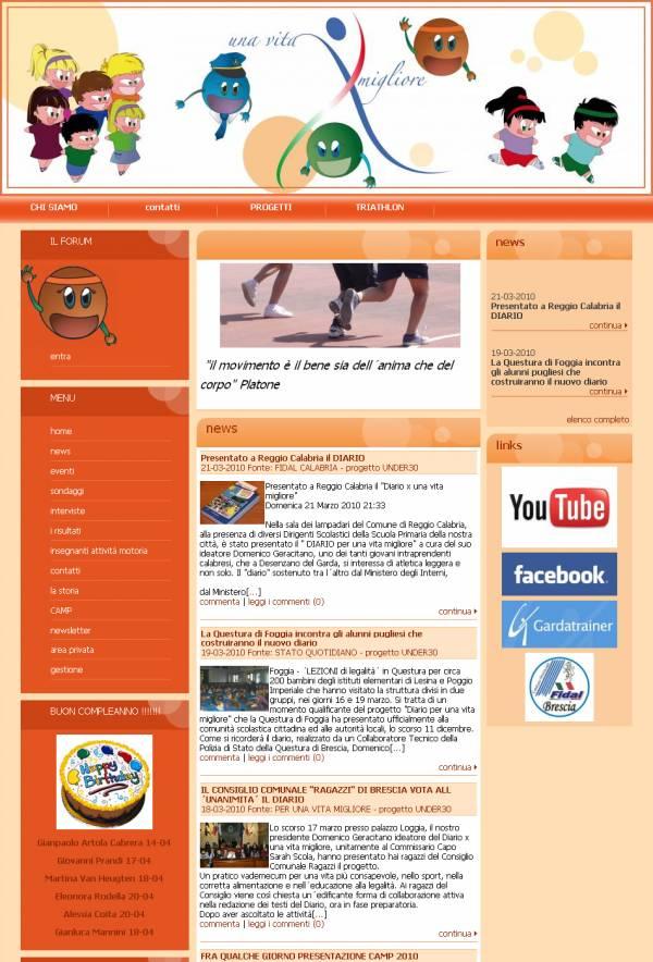 esempio di sito internet con Bitgeneration arancio