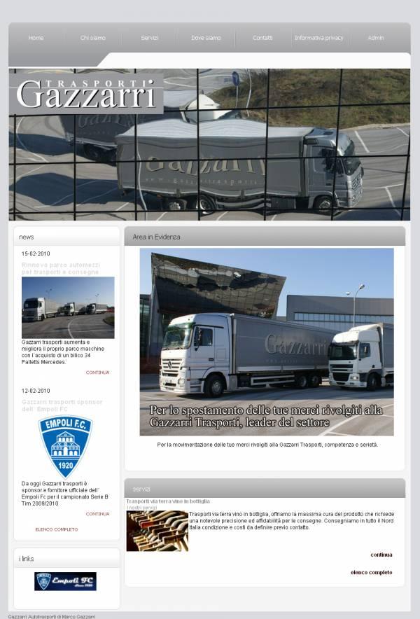 esempio di sito internet con stile Modern grigio