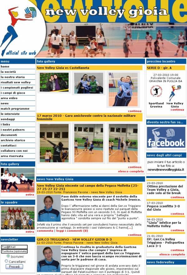 esempio di sito internet con stile New Color